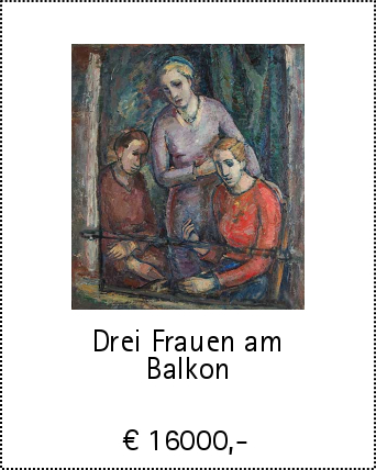 Drei Frauen am Balkon