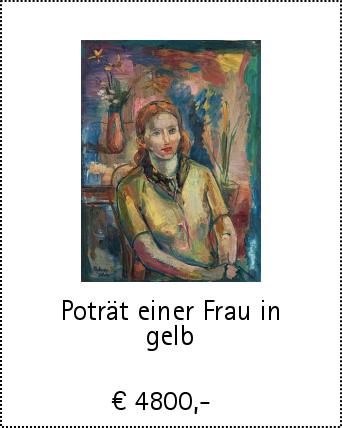 Poträt einer Frau in gelb
